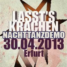 Lasst's krachen - Soziale Revolution statt autoritärer Krisenbewältigung - Nachttanzdemo am 30. April in Erfurt